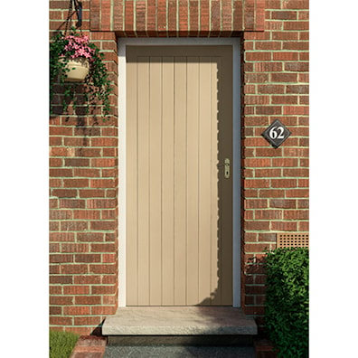Pattern HYX Hardwood External Door