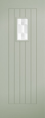 Suffolk French Sage Glazed Timber Composite External Door